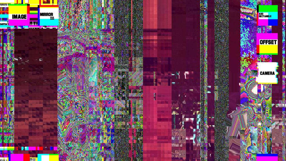 Exemplo de Glitch Art.