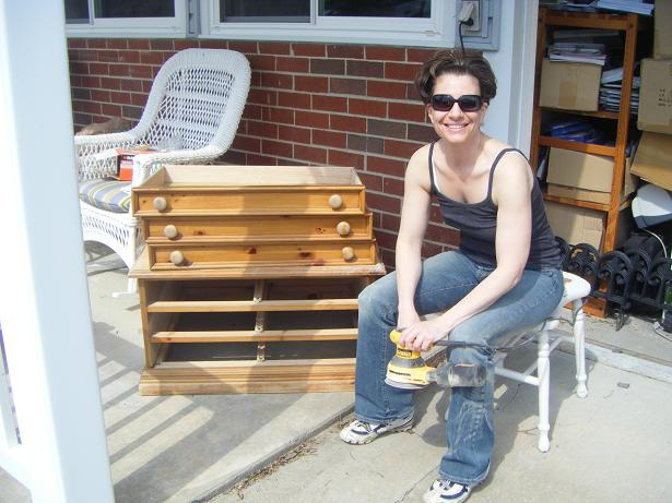 Me in 2008, shortly after I started painting furniture