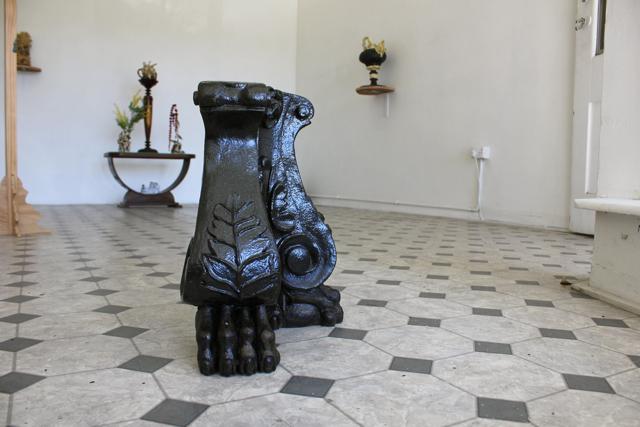 Baroque Pedestal 2013, hand built ceramic, stoneware glaze