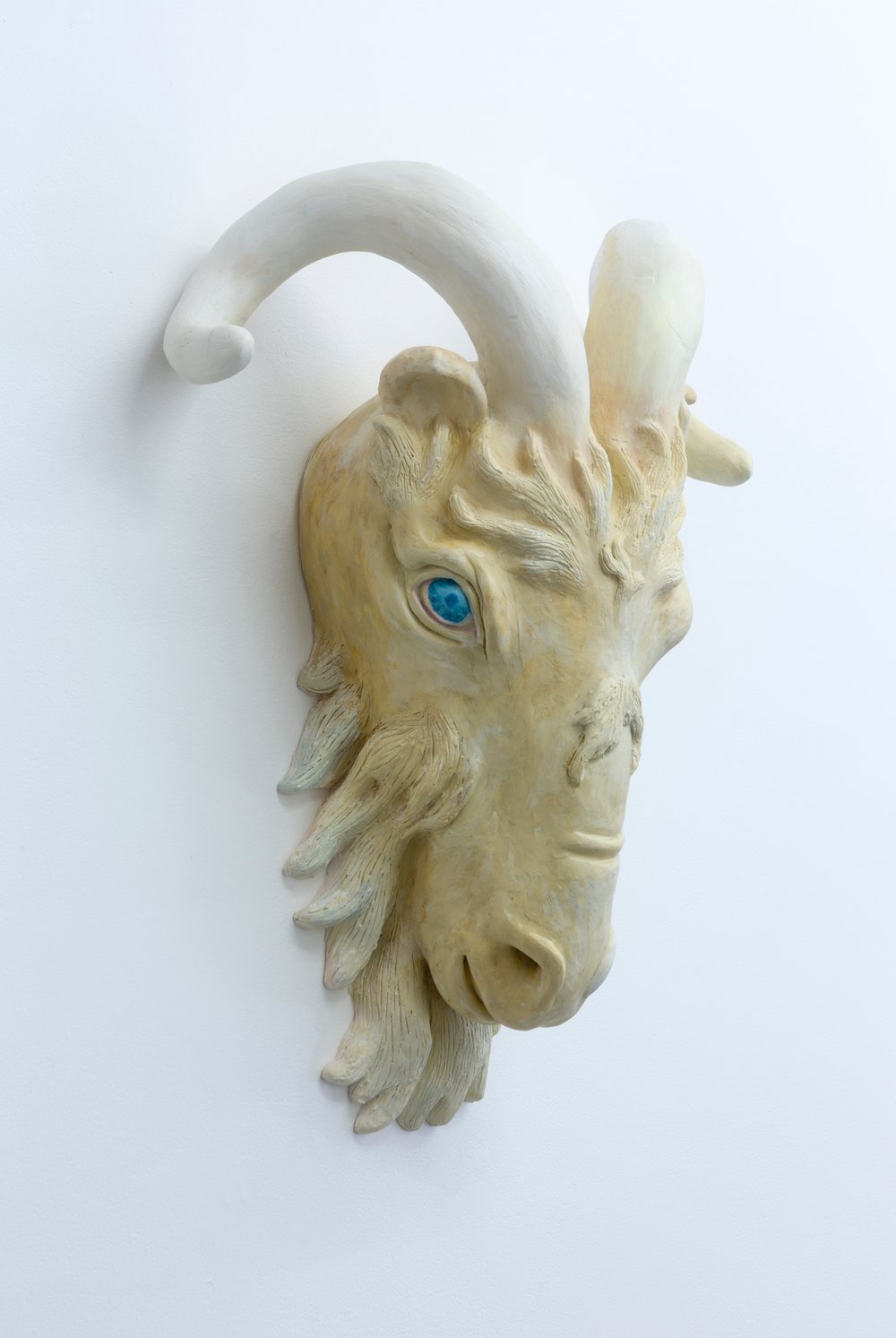 Goat, 2017 hand built ceramic, oil paint, photo: Jessica Maurer