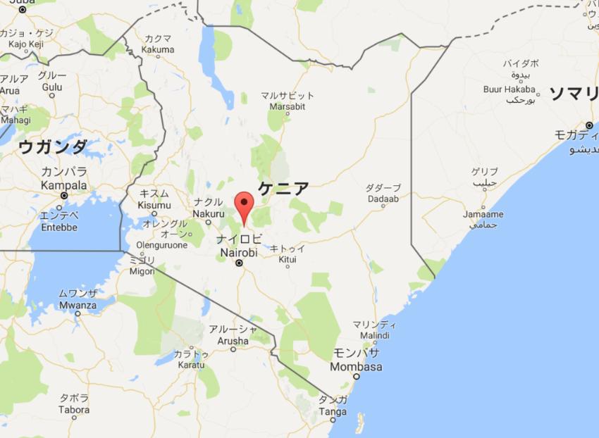 首都ナイロビから北に約150kmにニエリ地区は位置します。