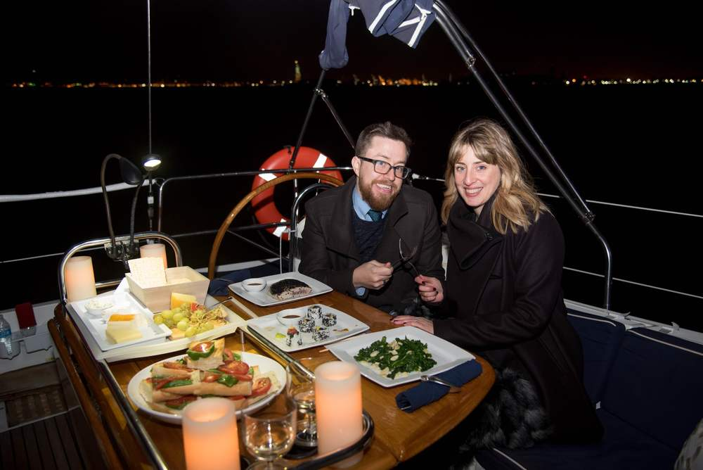 dinner on a boat