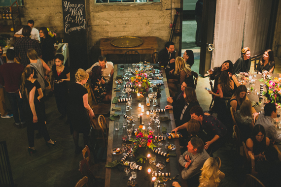 Elegant Dinner Party on 100 Layer Cake