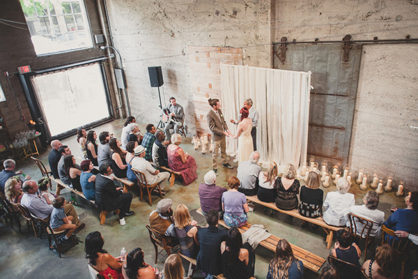 San Diego Loft Wedding on Ruffled Blog