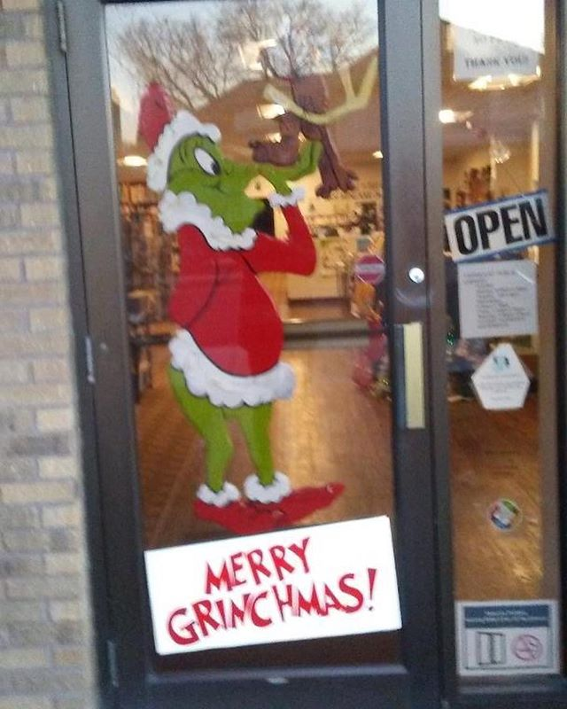 "Check out the Fairmount Public Library's decorations for this year's Main Street Window Decorating Contest! How fun!! If you'd like to see  them win, stop in and vote with your $$! The business who raises the most money wins! All proceeds go to Main Street Fairmount to continue to help Fairmount thrive! You also may pay using PayPal.me/mainstreetfairmount  and write their name in the ""note."" #mainstreetfairmount #fairmountindiana"
