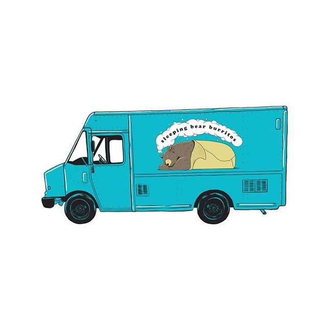 Logo and truck illustrations for @sleepingbearburritos 👌🏻👌🏻👌🏻 look for the truck around GR soon! . . . . . . #illustrationartists #illustration #illustrator #illustree #graphic #design #graphicdesign #art #artdirection #foodtruck #food #foodtrucks #artistsoninstagram #digitaldrawing #drawing #digital #digitalart #newwork #freelance #burritos #sleepingbear #bear #bears #turquoise #sleeping #grandrapids