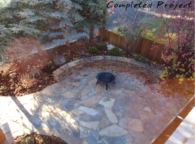 West side of Bend - patio completed