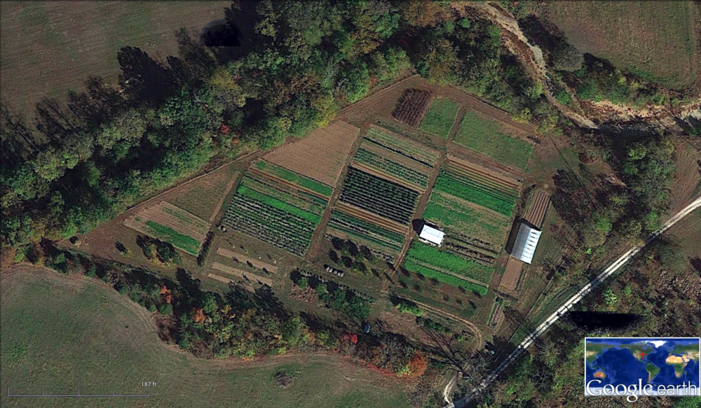 Winslows Farm Growing field - arial view