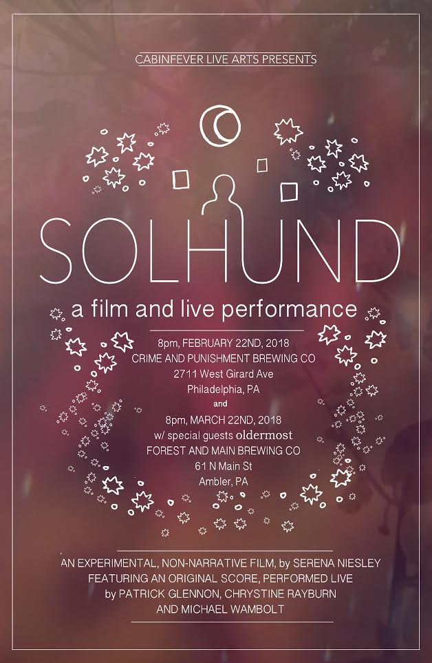 Performance poster for  Solhund  by Serena Niesley