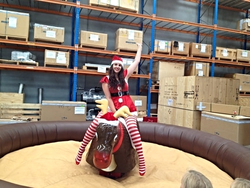 Hire a mechanical bull for your Christmas party