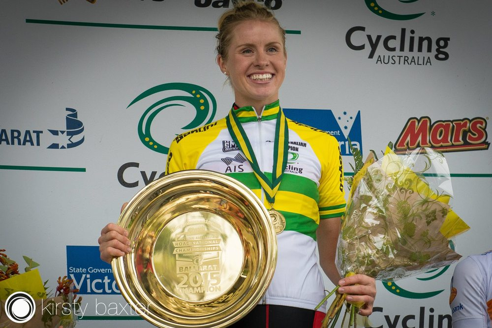 2015 Australian Road Race Champion - Peta Mullens. Photo Credit: Kirsty Baxter.