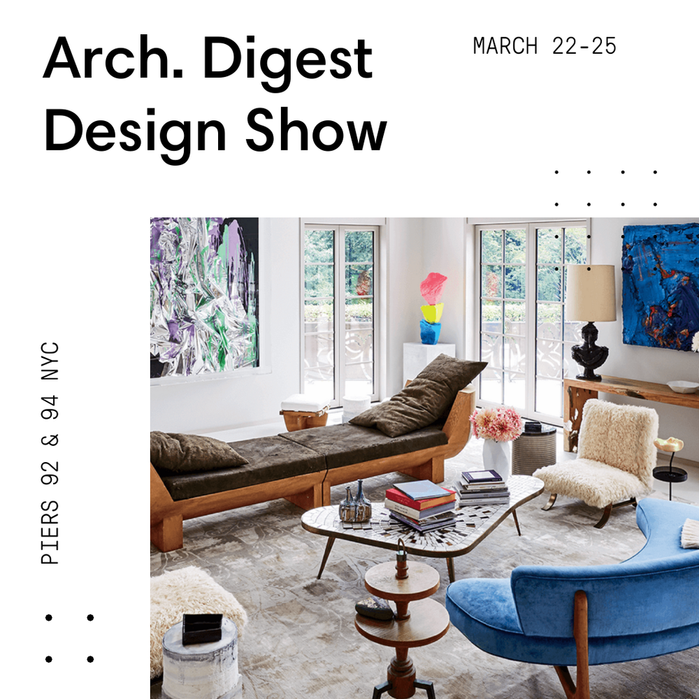 Architectural Digest Design Show — Chris Ritchey on new york loft interior design, high end home design, novogratz home design,