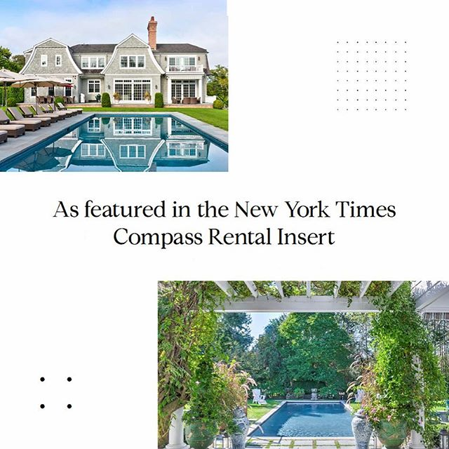 'Tis the season for summer Hamptons rentals 🏄🏼♂️☀️Check out a few of our exclusive rentals in the new @compass @nytimes luxury rental insert. • • • • • #easthampton #thehamptons #beach #beachhouse #milliondollarlisting #hamptons #hoveyritcheyteam #compass #design #realestate #rental #luxuryrentals