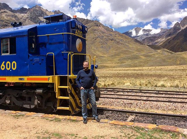 #tbt Train across the Andes Mountains from Cusco to Lake Titicaca @belmond @belmondandeanexplorer