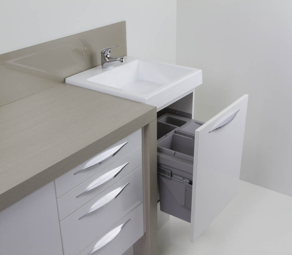 Dental Sink and Bin System