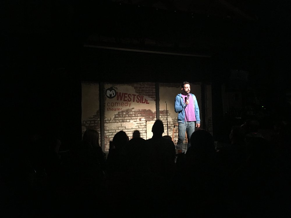 Sammy Obeid performing at Unnecessary Evil at  The Westside Comedy Theater  in Santa Monica. One of the best live stand up comedy shows in Los Angeles. Tickets are $14.