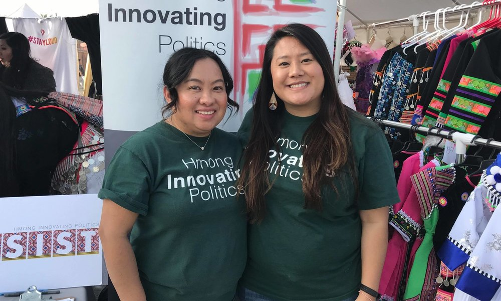 left to right: HIP Executive Director Cha Vang & Civic Engagement Director Mai Thao