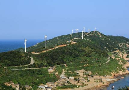 Nanji Island, Zhejiang, home of a two-megawatt lithium-ion battery supported microgrid.