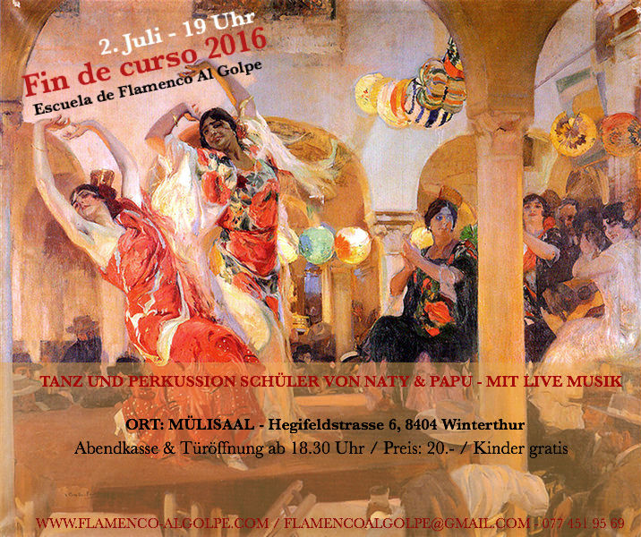 Wir freuen uns schon riesig auf eine super Flamenco Fiesta. Tanz, Musik, Tapas y Vino.