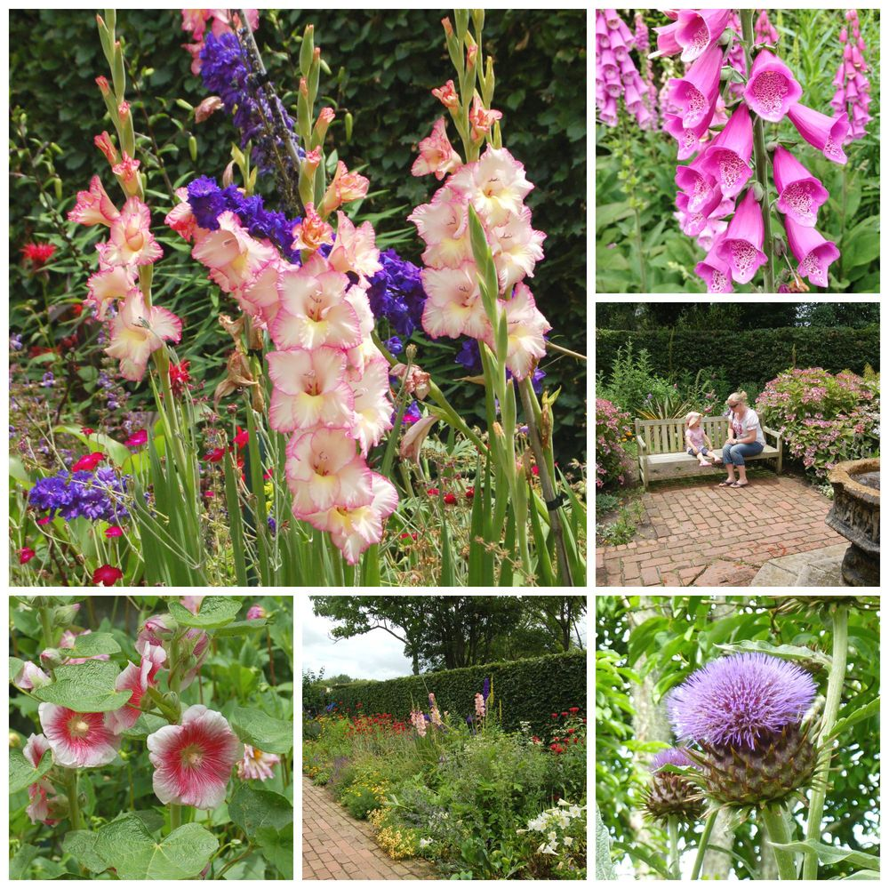 Smell the flowers or just sit and enjoy the sound of the birds & water features in the walled gardens