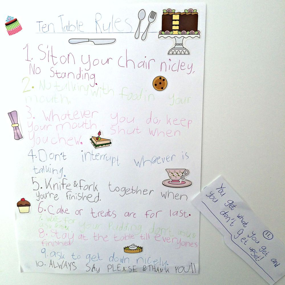 Arabella & Lucy's Table Rules