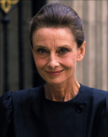 Audrey Hepburn, still beautiful at 63 - Found on Huffington Post