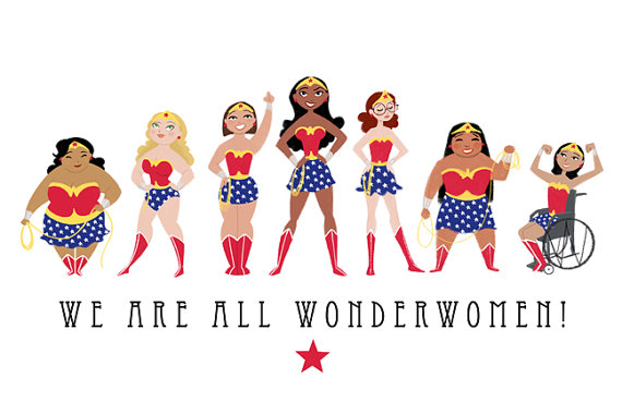 Wonder Women print available on Etsy