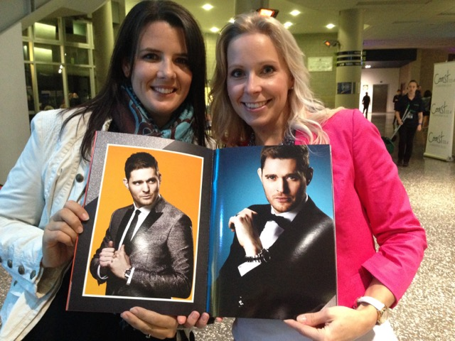 Michael Bublé  concert in Auckland... I agree with you Rebecca, best night out ever! x
