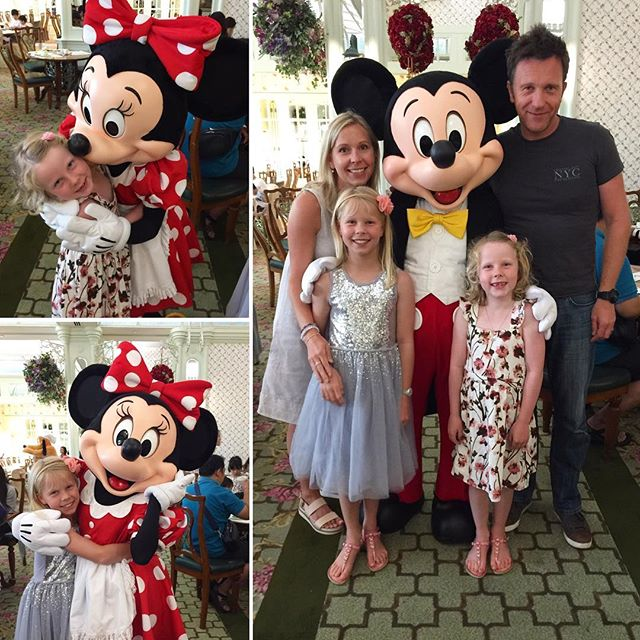Breakfast with Minnie & Micky Mouse Followed by Tai Chi with Goofy... not a bad start to our first morning! Now off to @hongkong.disneyland we go 💫 #hongkongdisneyland #hongkongdisneylandhotel #enchantedgardenrestaurant #travellingpotterfamily #mickyandminnie #kidsadventure #disney #disneyland #greatstarttotheday