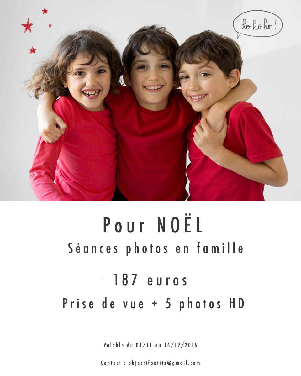 No ël 2016 avec Objectif Petits, Photographe de bébés, enfants et familles à Brest