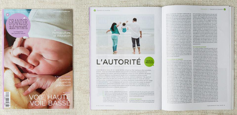 Objectif Petits, Photographe à Brest est publiée dans le magazine Grandir Autrement (numéro 63, Mars-Avril 2017)