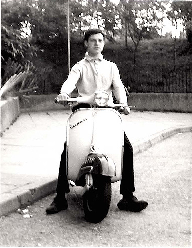 Peter Campbell on his GS 160  (circa 1964)