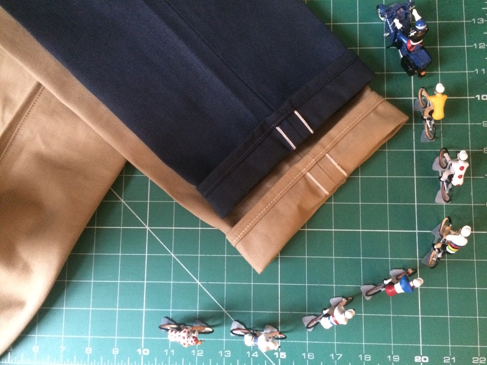 Selvedge red thread