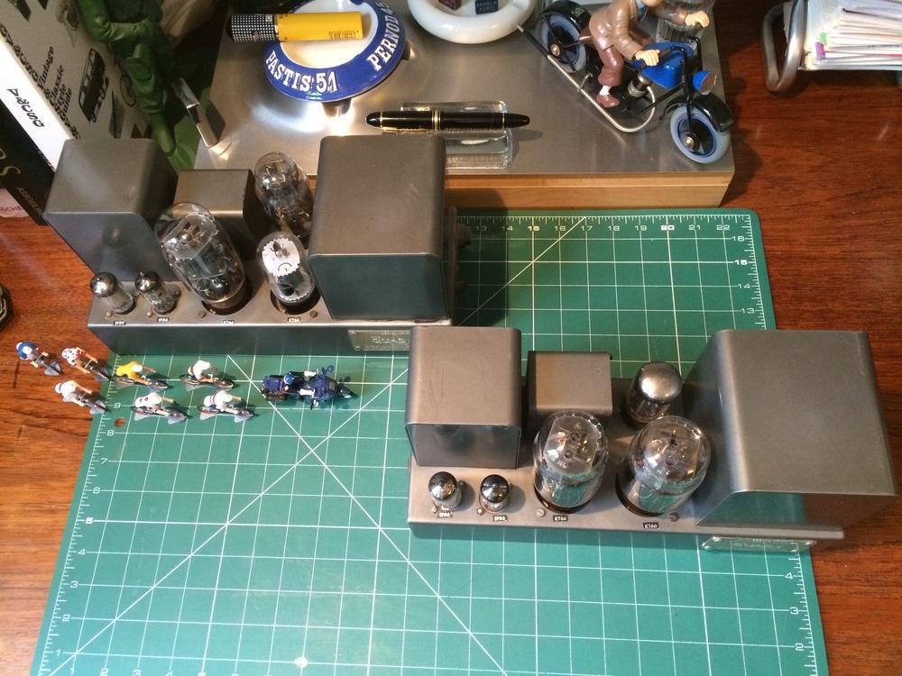 Huge valves on Quad Classic II amps