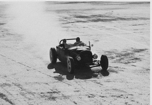 Hot Rod on the Bonneville Salt Flats