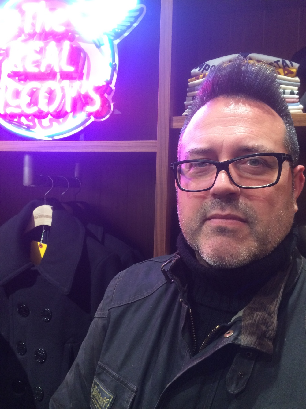 The Real McCoy's Peacoat in the background is going straight onto The Obsessive's 'to buy' list..