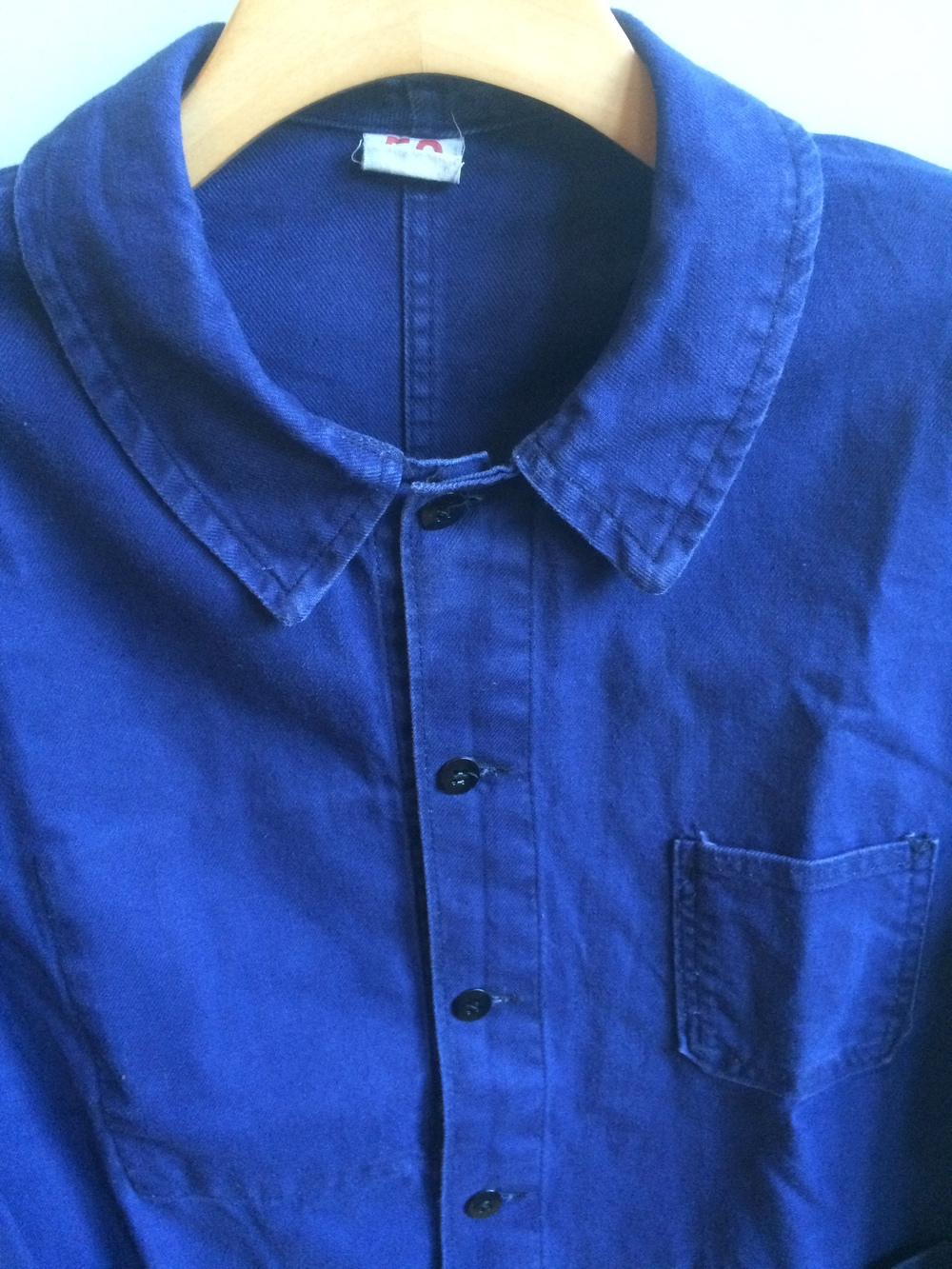 Vintage, unbranded, Sanforized workshirt from Spitalfields market.