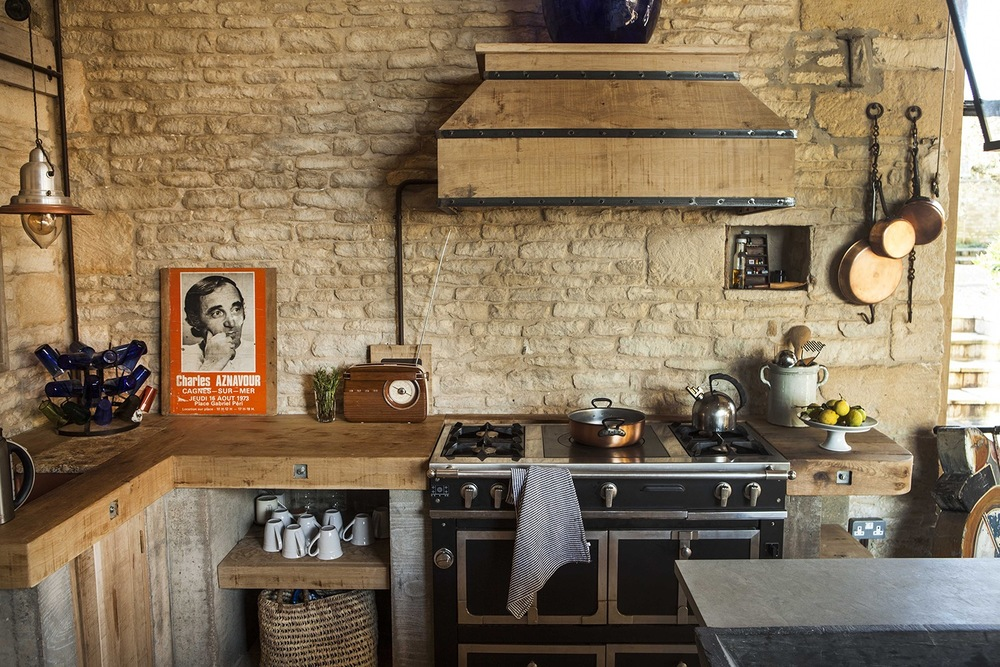For a fuller French flavour a La Cornue range cooker and Charles Aznavour poster essential