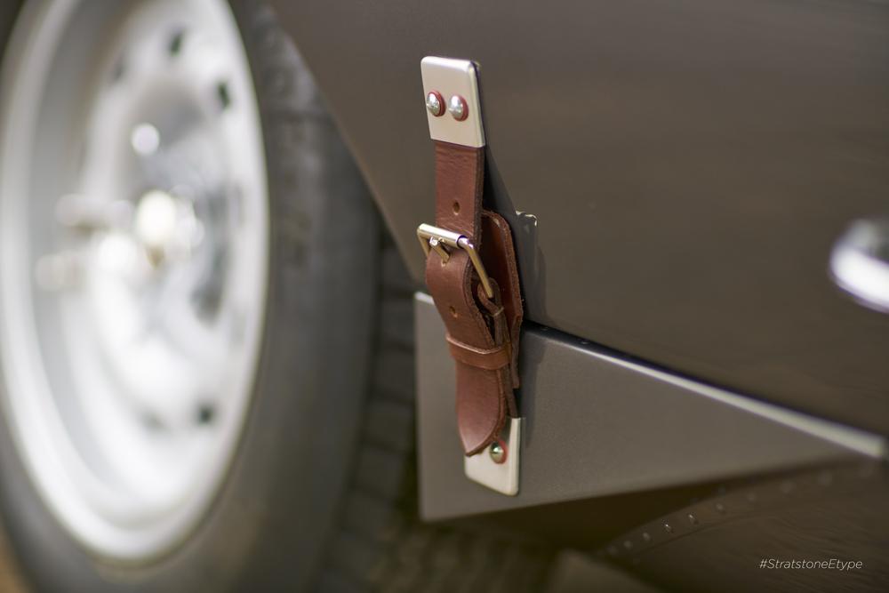 Gorgeous detail of leather bonnet strap