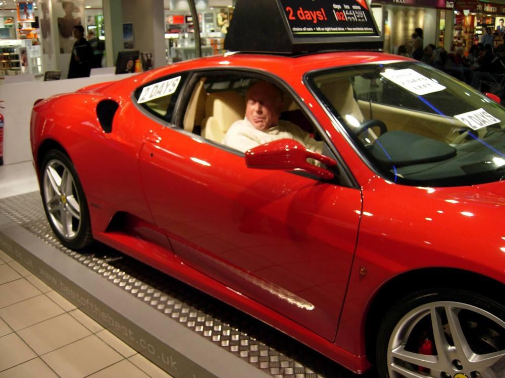 Uncle Derek loves Jaguars, but would quite a Ferrari too