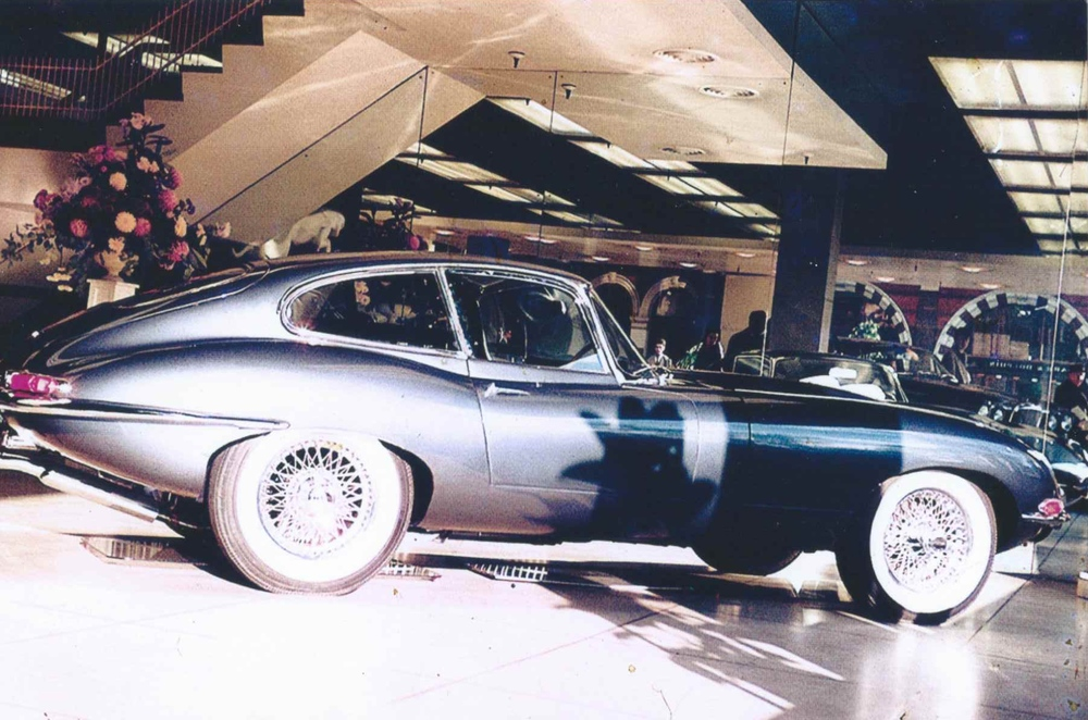 E-Type Coupe 2+2 in the showroom at 88 Piccadilly