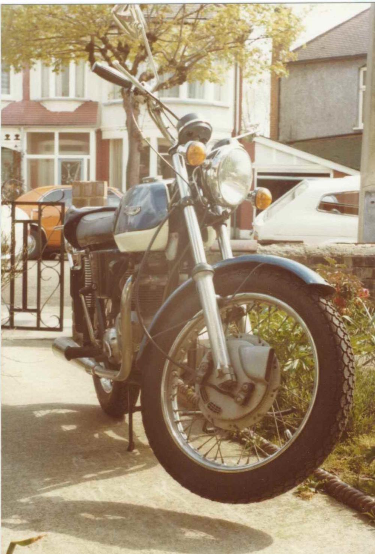 Dad's Triumph Tiger 650