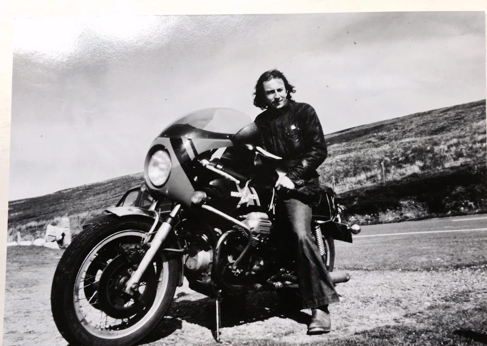 Ray on his ex TT Moto Guzzi 750 S3