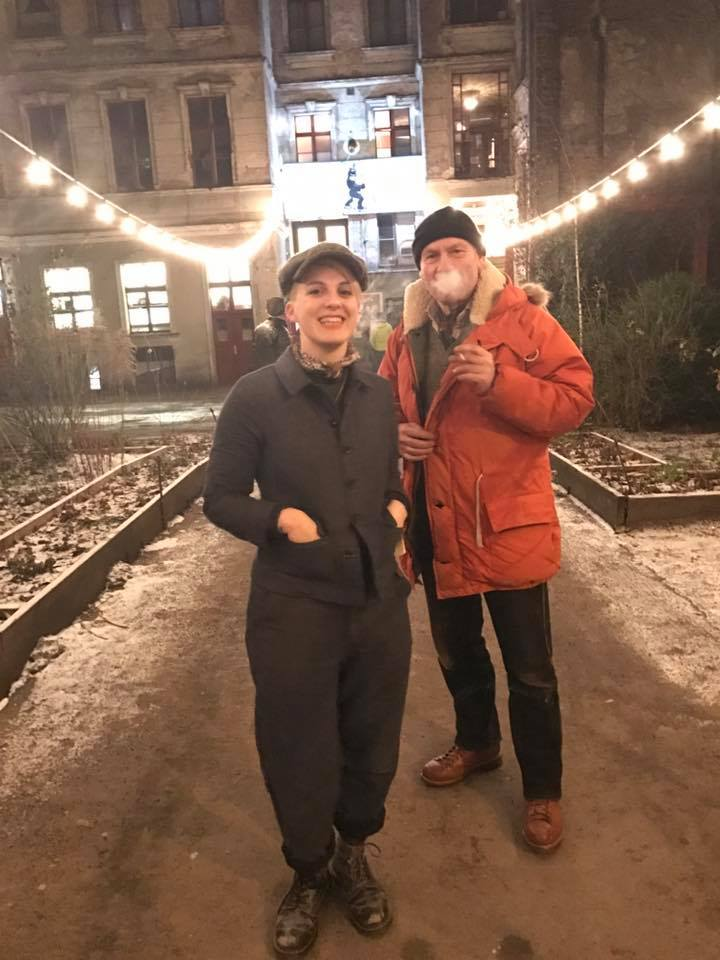 Sina & Stefan outside Clärchens Ballhaus