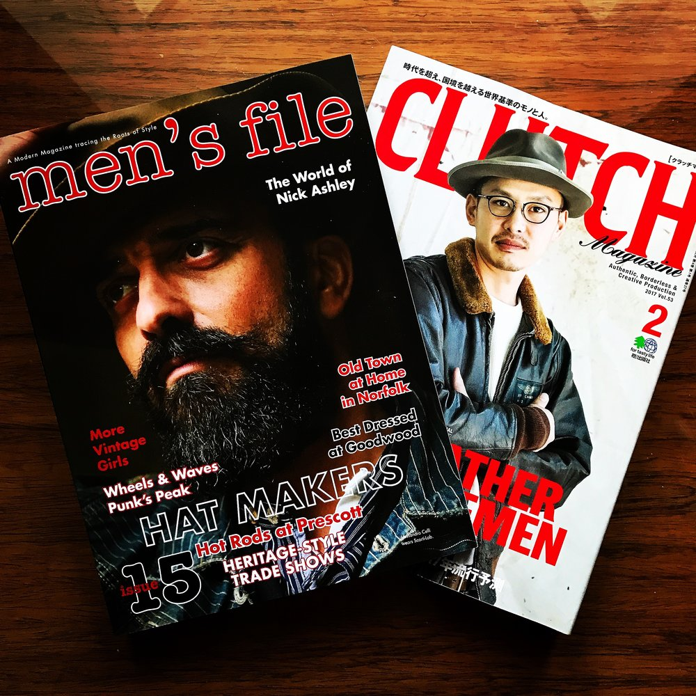 men's file and Clutch magazines