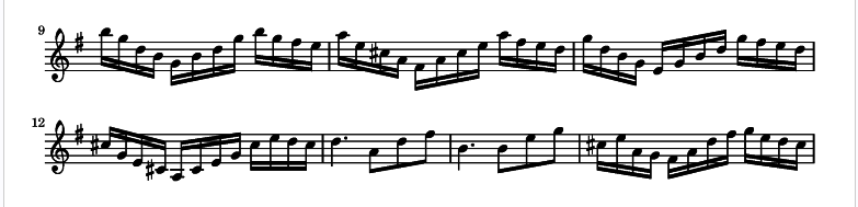Excerpt from Variation 1.