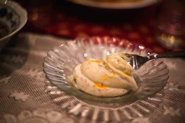Shrikhand: sweetened and strained yogurt