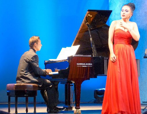 Königliches Kurtheater, Bad Wildbad, Germany, song recital, pianist Eduard Kiprsky, July 2015