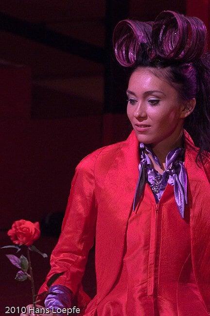 """Opernfestival St. Moritz, die Rolle von Cherubino in der Oper """"Le nozze di Figaro"""", Juni 2010"""