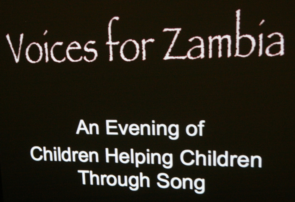 Voices for Zambia 2012